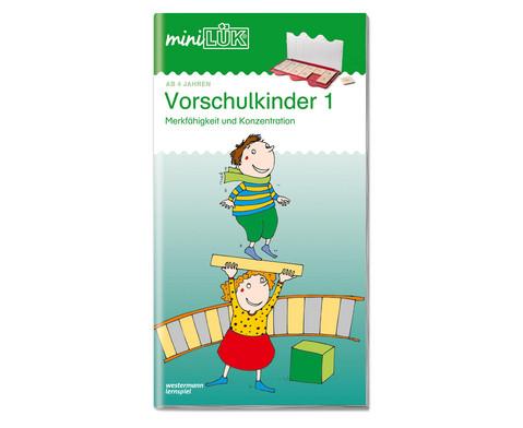miniLUEK-Heft UEbungen fuer Vorschulkinder 1