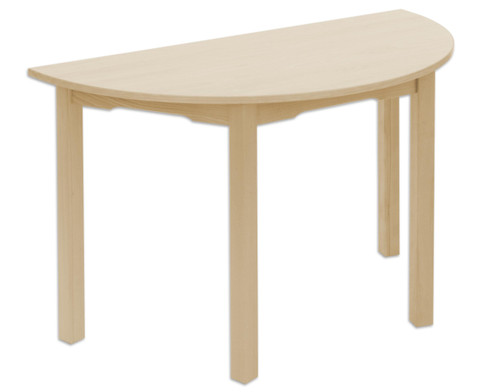 Betzold Halbkreis-Tisch Ahorn honig 120x60 cm