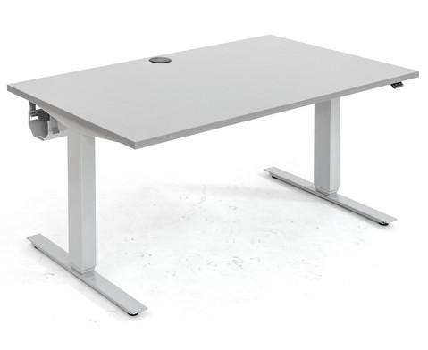 Flexeo Schreibtisch hoehenverstellbar 140 x 80 cm