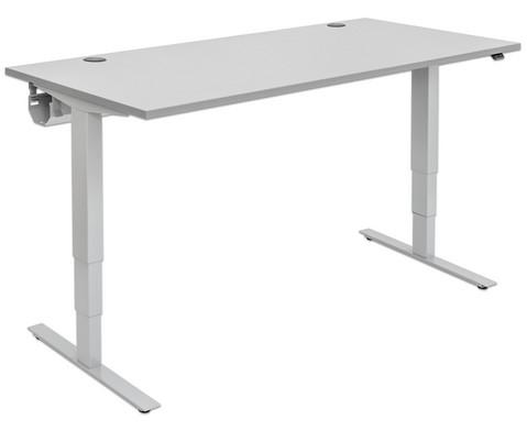 Flexeo Schreibtisch hoehenverstellbar B x T 160 x 80 cm