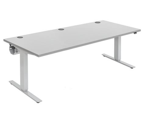 Flexeo Schreibtisch hoehenverstellbar 200 x 80 cm