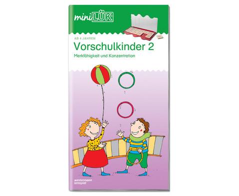 miniLUEK-Heft UEbungen fuer Vorschulkinder 2-1