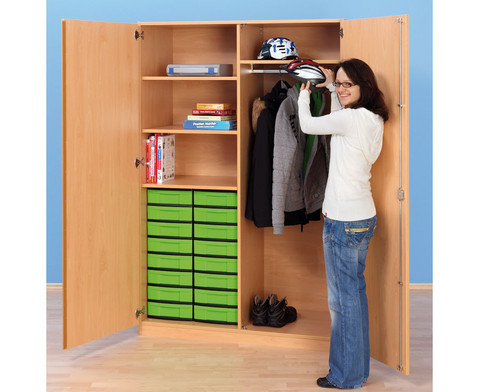 schubladen garderobenschrank tiefe 60 cm. Black Bedroom Furniture Sets. Home Design Ideas