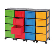 Containersystem, Höhe 86 cm, 16 Schübe, große Boxen