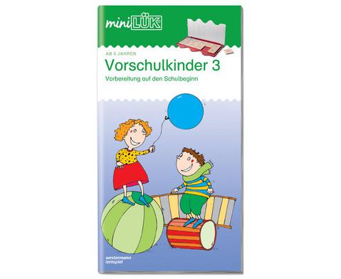 miniLUEK-Heft UEbungen fuer Vorschulkinder 3-1