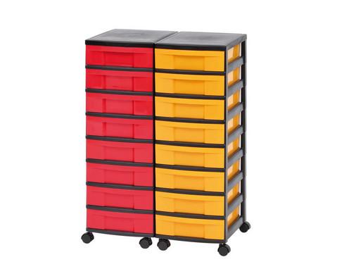 Betzold Containersystem Hoehe 86 cm 16 Schuebe kleine Boxen