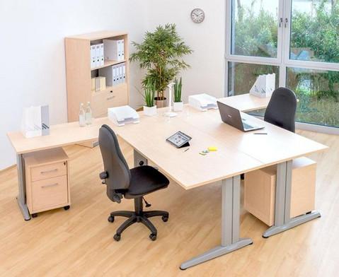 L-Fuss Schreibtisch 180 x 80 cm-4