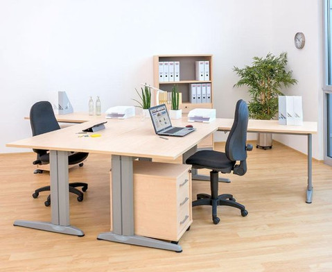 L-Fuss Schreibtisch  200 x 80 cm-2