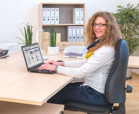 L-Fuss Schreibtisch  200 x 80 cm-4