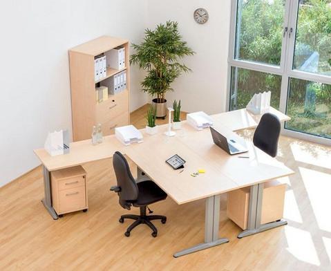 L-Fuss Schreibtisch Hoehe 72-82 cm verstellbar Platte 140 x 80 cm-7