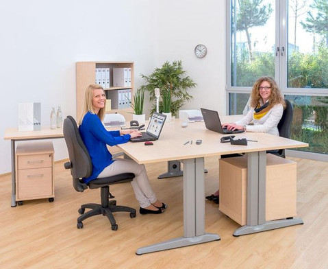 L-Fuss Schreibtisch Hoehe 72-82 cm verstellbar Platte 160 x 80 cm-2