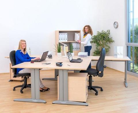 L-Fuss Schreibtisch Hoehe 72-82 cm verstellbar Platte 160 x 80 cm-4