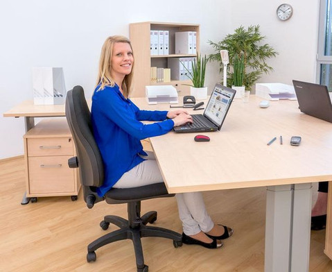 L-Fuss Schreibtisch Hoehe 72-82 cm verstellbar Platte 200 x 80 cm-4