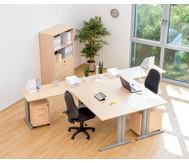 Anbautisch für L-Fuß Schreibtisch, Höhe 72 cm fest