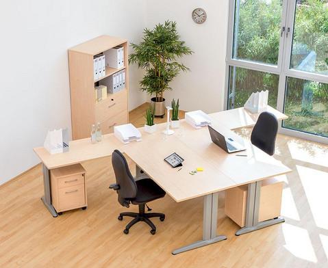 Anbautisch fuer L-Fuss Schreibtisch Hoehe 72-82 cm verstellbar