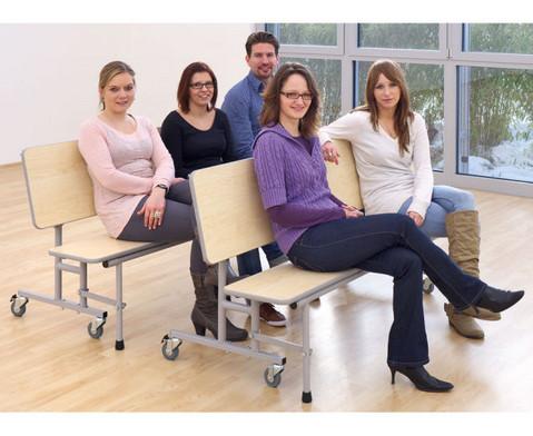 Tisch-Bank-Kombination 4 - 5 Sitzplaetze Tischhoehe 69 cm-3
