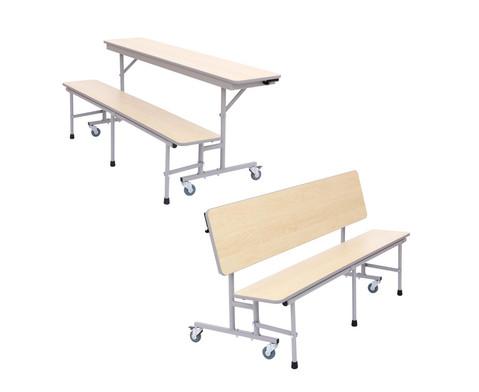 Tisch-Bank-Kombination 4-5 Sitzplaetze Tischhoehe 74 cm-3