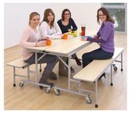 Tisch-Bank-Kombination, 5 - 6 Sitzplätze, Tischhöhe 69 cm