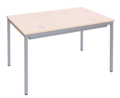 EDV-Tisch mit Blechkanal Vierkantrohr Tischbeine BxT 160x80 cm