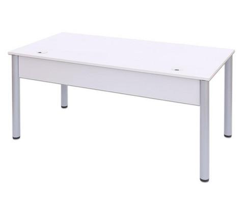 EDV-Tisch mit Kabelkanal Rundrohr Tischbeine BxT 80x80 cm