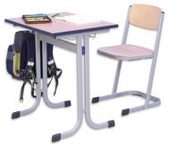 Schüler-Einer-Tisch, 70 x 55 cm, Tischhöhe 58 cm