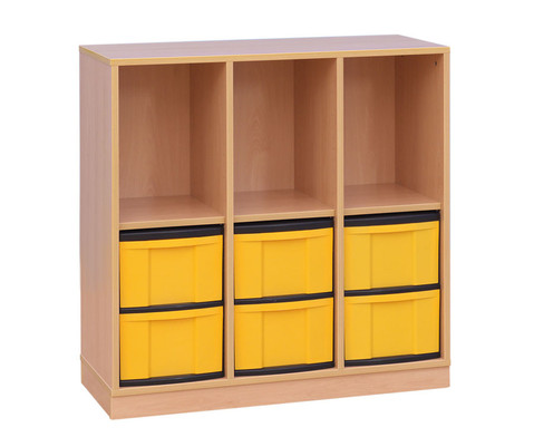 klassenzimmerregal 5 4 f cher 16 kleine schubladen sockel. Black Bedroom Furniture Sets. Home Design Ideas