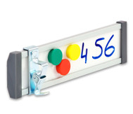 Beschilderungssystem, Whiteboard-Tischaufsteller