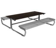 Outdoor Grande Tisch-Sitz-Kombination mit 6-8 Sitzplätzen, Massivplatte