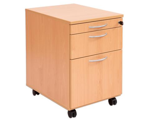 Flexeo Schreibtisch-Container mit 3 Schubladen