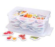 Magnetische Lebensmittel-Bilder plus Kunststoffbox