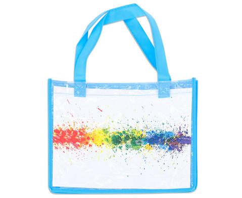 Blaue Tasche A4 Querformat-3