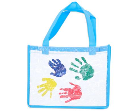 Tasche A4 Querformat blau-4