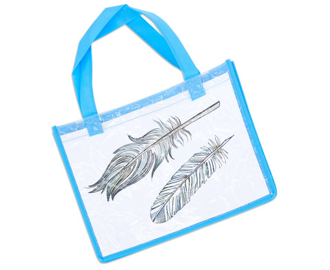 Tasche A4 Querformat blau-10