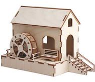 Wassermühle mit Solarantrieb