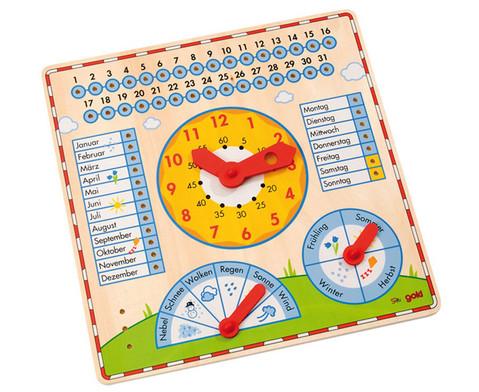 Kalendertafel mit Uhr-1