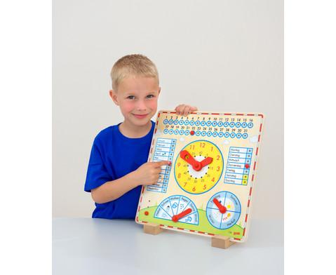 Kalendertafel mit Uhr-2