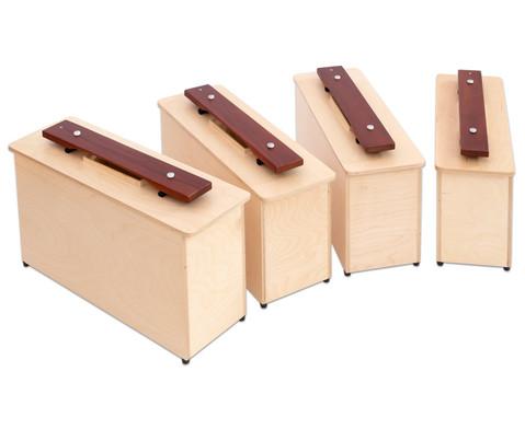 Betzold Musik Spar-Set mit 4 Kontrabass-Klangbausteinen c1 d1 e1 f1
