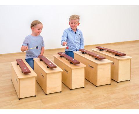 Spar-Set mit 5 Kontrabass-Klangbausteinen-5