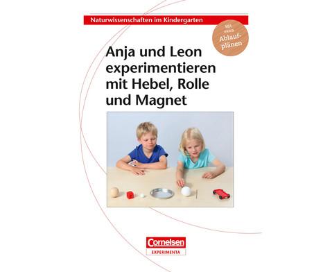 Anja und Leon experimentieren mit Hebel Rolle und Magnet-3