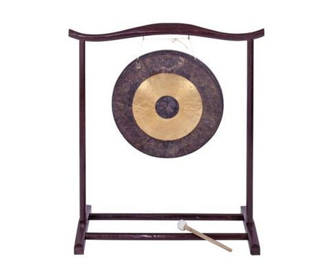 Chinesischer Gong mit Holzstativ-2
