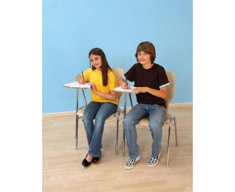 Stuhl mit klappbarer Schreibflaeche aus Holz-2