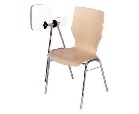 Stuhl mit klappbarer Schreibflaeche aus Holz-3