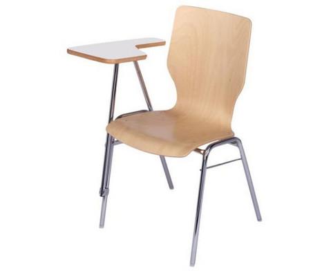 Stuhl mit klappbarer Schreibflaeche aus Holz-4