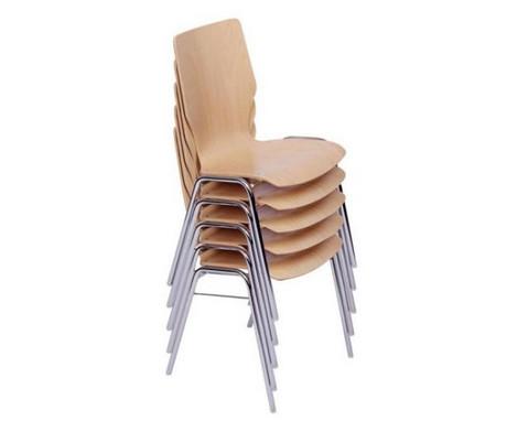 Stuhl mit klappbarer Schreibflaeche aus Holz-5
