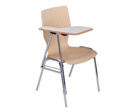 Stuhl mit klappbarer Schreibflaeche aus Holz-1