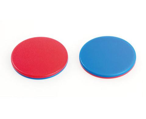 100 Wendeplaettchen rot-blau