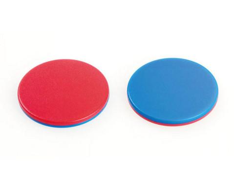 Wendeplaettchen rot - blau 100 Stueck-2