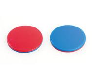 Wendeplättchen rot / blau, 100 Stück