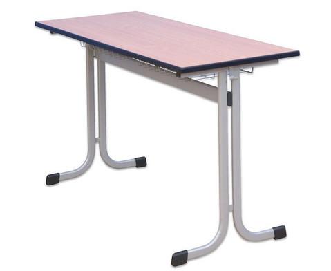 Zweier-Schuelertisch mit C-Fuss 130 x 55 cm