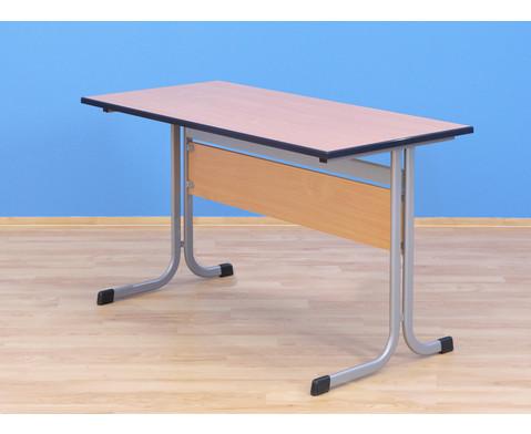 Lehrertisch C-Fuss 130 x 65 cm Hoehe 76 cm